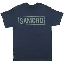 Sons Of Anarchy Samcro Cracked 2 Sided T-Shirt Navy Blue Mens Small