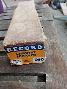 VINTAGE RECORD NO 080 CABINET SCRAPER IN ORIGINAL BOX