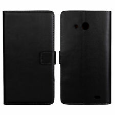 Black genuine wallet leather case for Huawei Ascend Mate MT1-U06 6.1 a