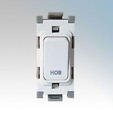 Deta G3552 20A Double Pole Grid Switch marked Hob - White