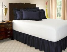 14 INCH DROP SOLID EASY FIT SET UP PLEATED ALL CORNERS 1 PC BED SKIRT KING SIZE
