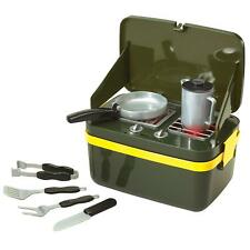 Camp Stove Play Set BBQ Grill Kids Toddler Pretend Cook Food Sounds Gift New