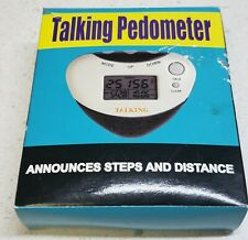 Talking Pedometer Announces Steps and Distance