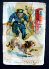 "RARE 1900 Mayo's Cut Plug Tobacco T-203 Baseball Comics Card ""A Star Catcher"""