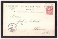 s32101) BELGIUM 1902 PC Verviers Worms - Franked Perfin