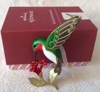 Hallmark Keepsake Metal Dazzling Hummingbird Premium Ornament New Gift Box 2016