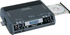 ROLAND CD-2 CD/CF PORTABLE AUDIO RECORDER + MANUAL & POWER SUPPLY 2I 2U