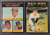 1971 Topps Set Break 287 Mike Fiore & AL 1970 ERA Leaders Jim Palmer Diego Segui