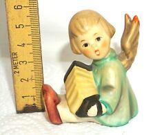 Goebel ENGEL musizierend mit Kerzenhalter Figur Porzellan 6 cm