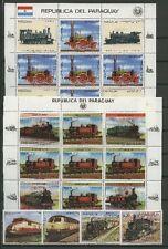 Eisenbahn, Railways - Paraguay - LOT ** MNH