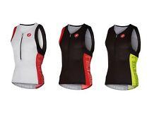 Castelli Free Tri Top Triatlón / tricota de ciclo impermeable upf-16-8616069