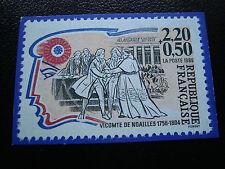 FRANCE - carte 1989 (timbre vicomte de noailles) (cy54) french