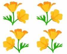 ~ Retired NLA Poppy Flowers Garden Plant Orange Mrs Grossman Stickers ~