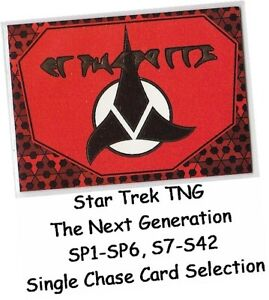 Star Trek TNG The Next Generation - Single Chase Card Selection - Foil, Embossed