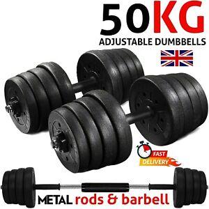 Dumbbells Set Hand Weights 50kg Barbell Dumbbell Adjustable Fitness Equipment