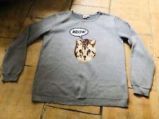 Cute Grey Cat Meow Jumper ASOS 14