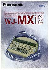 TECHNICS - WJ - MX12 DIGITAL PRODUCCION MIXER CATALOGO ORIGINAL