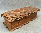 Large antique french black forest glove or pipe box early 1900 s woodwork