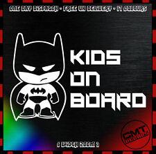 Kids On Board Batman Car / Van Decal Bumper Novelty Sticker JDM Jap - 17 Colours