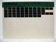 Yamaha TZ125 1980 TZ125G Parts List Manual Microfiche m48