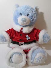 Build a Bear Blue Winter Holiday Snowflake Sparkle Teddy Bear Plush Santa Suit