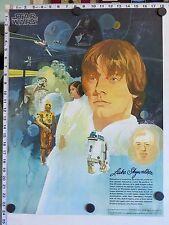 Original LUKE SKYWALKER Poster - STAR WARS BURGER KING COCA-COLA (1977) - MINT!
