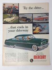 Original Print Ad 1953 MERCURY Try the Drive Vintage Monteray Green
