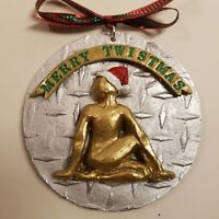 Merry Twistmas Yoga pose Christmas Ornament