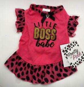 "Simply Wag Dog Tutu Dress ""LITTLE BOSS BABE"" X- SMALL"
