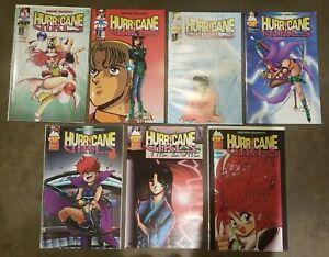 Hurricane Girls (1995) #s 1 2 3 4 5 6 7 - Set lot of 7 Manga