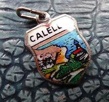 Vintage Plata Multi Color Esmalte Calella España ciudad Encanto Para Pulsera-C88
