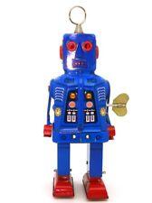 "TINPLATE WALKING ROBOT - WIND UP CLOCKWORK - MINT 8"" TALL"