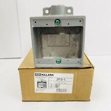 1 Killark 2fs 1 2 Gang Shallow Aluminum Device Box 12 Npt New