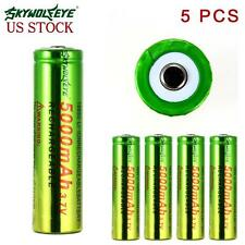 5x Skywolfeye LED Flashlight 5000mAh Rechargeable 18650 Li-ion Battery US TR