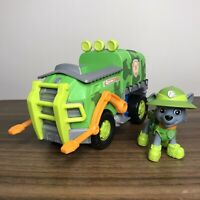 Paw Patrol Pup Rocky (Green) With Recycling Truck Action Figure and Vehicle VGC
