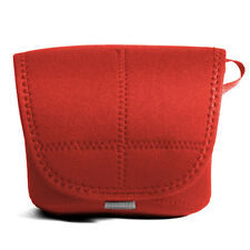Canon EOS 100d + 40mm Pancake lens Neoprene DSLR Camera Body Case Pouch Bag Red