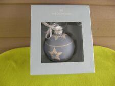 Wedgwood Blue Jasperware Ball with White Stars Ornament Nib