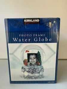 Kirkland Signature Photo Frame and Musical Snow Globe/Christmas Tree Design