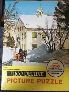 Vintage TUCO Interlocking Puzzle Winter In SILS MARTHA, SWITZERLAND Complete!