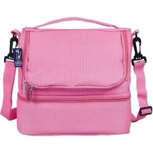 Wildkin Flamingo Pink Two Compartment Lunch Bag (MISSING STRAP) (see pictures)