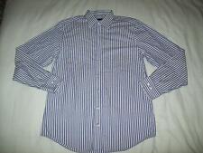 "Pierre Cardin Long Sleeved Lilac & White Stripe Shirt size 15.5"""