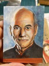 More details for captain jean luc picard star trek artist sketch card by semra bulut