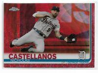 2019 Topps Chrome Baseball Red Wave Refractor Nicholas Castellanos 4/5 SSP
