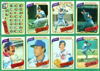 1980 TOPPS CHICAGO CUBS TEAM SET NM   BUCKNER  KINGMAN  REUSCHEL  SUTTER