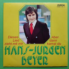 "7"" HANS-JÜRGEN BEYER ABER DANN KAMST DU AMIGA 456191 SINGLE VINYL SCHALLPLATTEN"