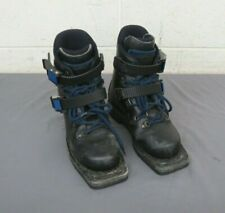 ARKOS Padded Black Leather 3-Pin 75mm Nordic Norm Telemark Ski Boots US 4.5 UK 4