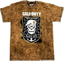 Call of Duty Black Ops4 Badge Logo Mens Brown Shirt L Shape