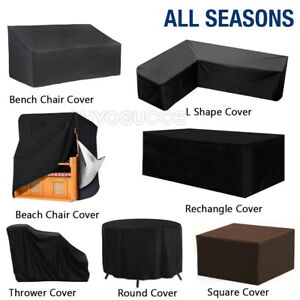 Heavy Duty Garden Patio Furniture Cover For Rattan Table Bench Chair Set Outdoor
