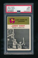 1961 - 1962 Fleer #66 Jerry West In Action PSA 9 (OC) MINT Los Angeles Lakers