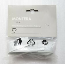 NEW Pack of 3 Ikea Montera Grey Cable Tidy Plastic Straps Cables Management Hook